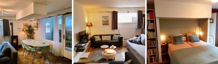 eethoek-woonkamer-slaapkamer-vakantiewoning-Valklenburg